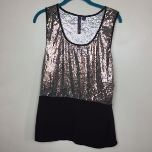Kouture by Kimora |Sequins Tank Top Blouse
